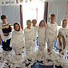 We made ourselves into mummies using toilet roll!