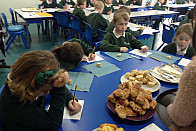 Food tasting with Mrs Spencer